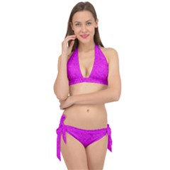 Triangle Pattern Seamless Color Tie It Up Bikini Set