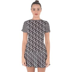 Seamless Repeating Pattern Drop Hem Mini Chiffon Dress by Alisyart