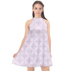 Star Pattern Texture Background Halter Neckline Chiffon Dress  by Alisyart
