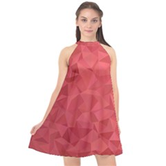 Triangle Background Abstract Halter Neckline Chiffon Dress  by Mariart