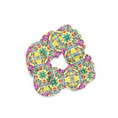 Triangle Mosaic Pattern Repeating Velvet Scrunchie