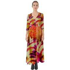 Fractal Mandelbrot Art Wallpaper Button Up Boho Maxi Dress