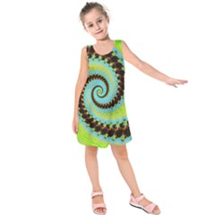 Fractal Julia Mandelbrot Art Kids  Sleeveless Dress