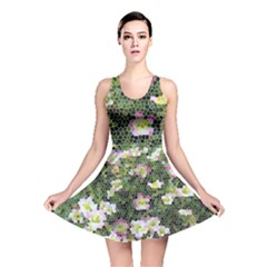 Mosaic Structure Pattern Background Reversible Skater Dress