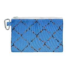 Pattern Structure Background Blue Canvas Cosmetic Bag (large) by Pakrebo