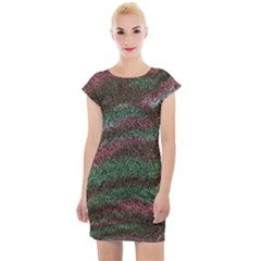Pattern Structure Background Lines Cap Sleeve Bodycon Dress by Pakrebo