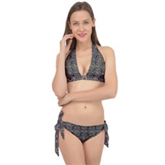 Line Geometry Pattern Geometric Tie It Up Bikini Set