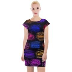 Pattern Background Structure Pink Cap Sleeve Bodycon Dress by Pakrebo