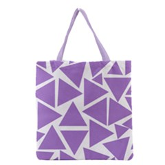 Crocus Petal Triangles  Grocery Tote Bag by TimelessFashion