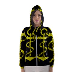 French Navy Golden Anchor Symbol Hooded Windbreaker (women) by abbeyz71
