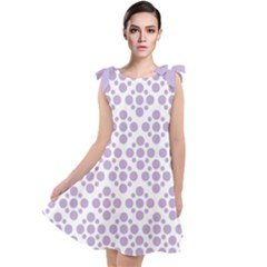 Floral Dot Series   Crocus Petal And White  Tie Up Tunic Dress by TimelessFashion
