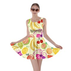 Seamless Pattern Fruit Skater Dress by Mariart