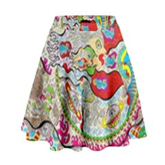 Supersonic Pyramid Protector Angels High Waist Skirt