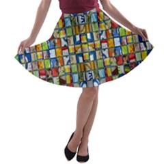 Ml-65 A-line Skater Skirt by ArtworkByPatrick