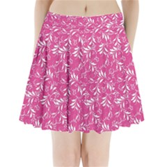 Fancy Floral Pattern Pleated Mini Skirt