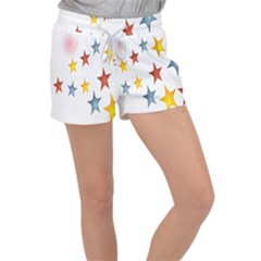 Star Rainbow Women s Velour Lounge Shorts