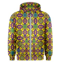 Tile Background Geometric Men s Zipper Hoodie