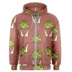 Cactus Pattern Background Texture Men s Zipper Hoodie