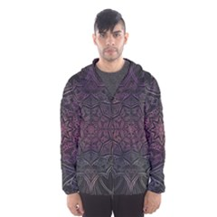 Mandala Neon Symmetric Symmetry Hooded Windbreaker (men) by Pakrebo