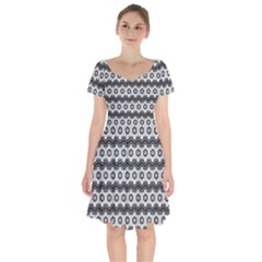 Pattern Abstract Desktop Wallpaper Short Sleeve Bardot Dress