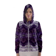 Pattern Abstract Horizontal Hooded Windbreaker (women) by Pakrebo