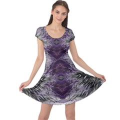 Pattern Abstract Horizontal Cap Sleeve Dress by Pakrebo
