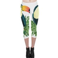 Tropical Birds Capri Leggings  by Alisyart