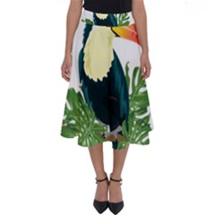 Tropical Birds Perfect Length Midi Skirt