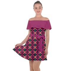 Fantasy 005ix Off Shoulder Velour Dress by Fantasy