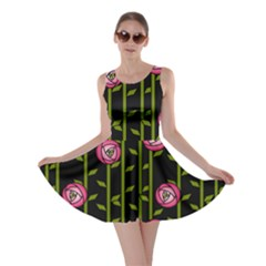 Rose Abstract Rose Garden Skater Dress