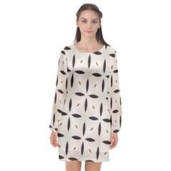 Texture Background Pattern Long Sleeve Chiffon Shift Dress  by Pakrebo