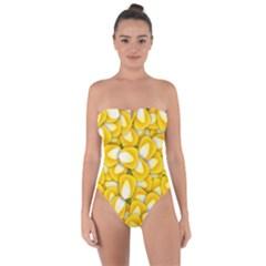 Pattern Background Corn Kernels Tie Back One Piece Swimsuit by Pakrebo