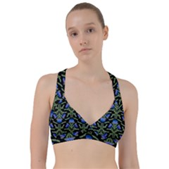 Pattern Thistle Structure Texture Sweetheart Sports Bra by Pakrebo