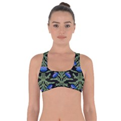 Pattern Thistle Structure Texture Got No Strings Sports Bra by Pakrebo
