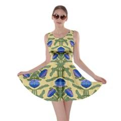 Pattern Thistle Structure Texture Skater Dress by Pakrebo