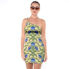 Pattern Thistle Structure Texture One Soulder Bodycon Dress by Pakrebo