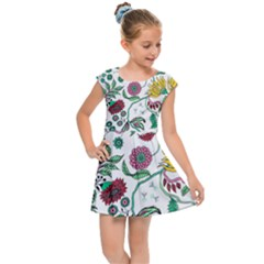 Flowers Garden Tropical Plant Kids  Cap Sleeve Dress