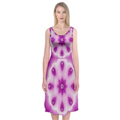 Pattern Abstract Background Art Purple Midi Sleeveless Dress