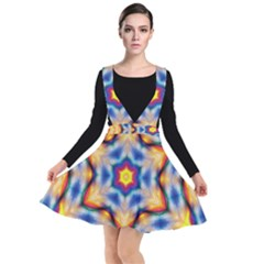 Pattern Abstract Background Art Plunge Pinafore Dress
