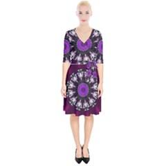 Kaleidoscope Round Circle Geometry Wrap Up Cocktail Dress