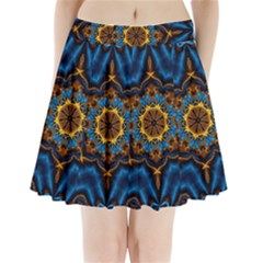 Pattern Abstract Background Art Pleated Mini Skirt