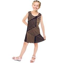 Cubes Light Geometry Shines Kids  Tunic Dress