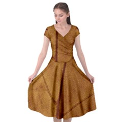 Leaf Fall Foliage Nature Orange Cap Sleeve Wrap Front Dress by Pakrebo