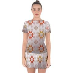 Wallpaper Pattern Abstract Drop Hem Mini Chiffon Dress by Pakrebo