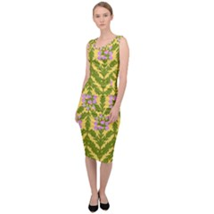 Texture Heather Nature Sleeveless Pencil Dress by Pakrebo