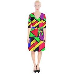 Background Color Art Pattern Form Wrap Up Cocktail Dress