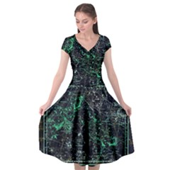 Constellation Constellation Map Cap Sleeve Wrap Front Dress by Pakrebo