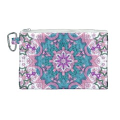 Mandala Pattern Abstract Canvas Cosmetic Bag (large) by Pakrebo