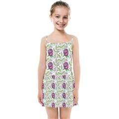 Default Texture Background Floral Kids  Summer Sun Dress