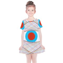 Line Art Geometric Design Line Kids  Simple Cotton Dress by Pakrebo